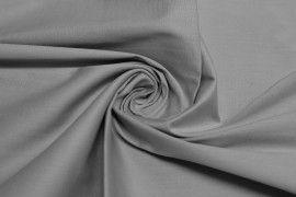 Tissu Popeline Coton/Elasthanne Grise -Au Metre