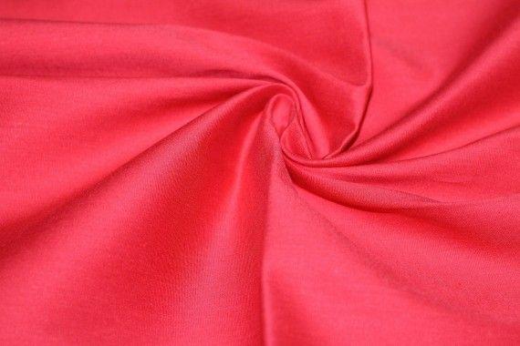 Popeline Coton/Elasthanne Rouge