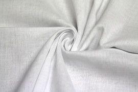 Tissu Voile Uni 100% Coton Blanc Coupon de 3 Metres