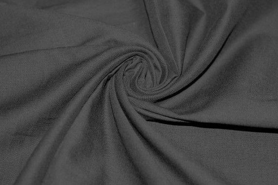 Voile Uni 100% Coton Noir