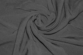 Tissu Voile Uni 100% Viscose Noir Coupon de 3 metres