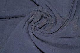 Tissu Voile Uni 100% Viscose Marine Coupon de 3 metres