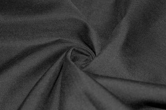 Voile Uni Polycoton Noir