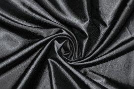 Tissu Satin Elasthanne Noir Coupon de 3 mètres