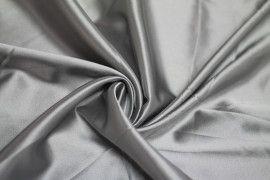 Tissu Satin Elasthanne Gris clair Coupon de 3 mètres
