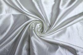 Tissu Satin Elasthanne Blanc Coupon de 3 mètres