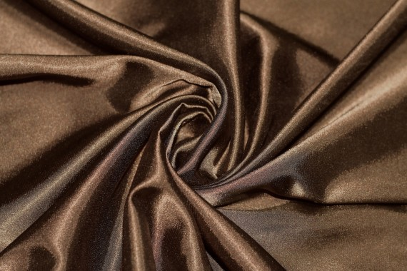 Satin Elasthanne Marron