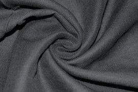 Tissu Lin Uni Noir 100% Coupon de 3 mètres