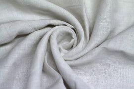 Tissu Lin Uni Blanc 100% Coupon de 3 mètres