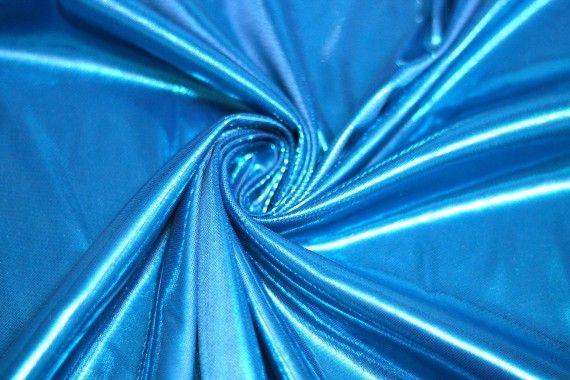 Lamé Lazer Fluide Turquoise