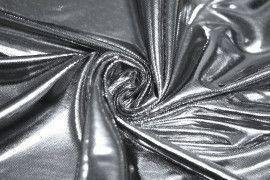 Lamé Lazer Fluide Argent/Noir