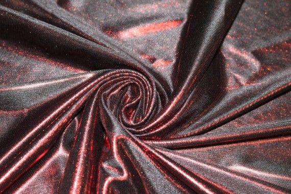 Lamé Lazer Fluide Rouge/Noir