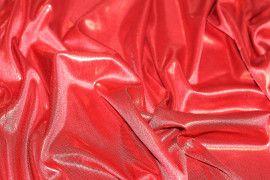 Lamé Lazer Fluide Rouge