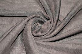 Tissu Mousseline Unie Marron Coupon de 3 mètres
