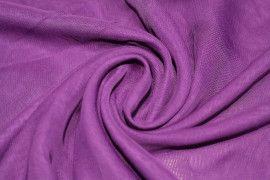 Tissu Mousseline Unie Violet Coupon de 3 mètres