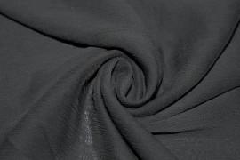 Tissu Mousseline Froissée Noire Coupon de 3 mètres