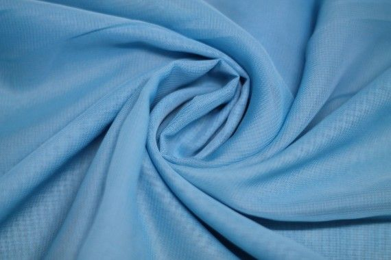 Mousseline Unie Turquoise