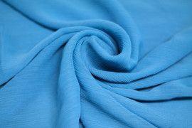 Mousseline Froissée Turquoise