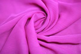 Tissu Mousseline Froissée Fuchsia Coupon de 3 mètres