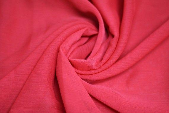 Mousseline Froissée Rouge