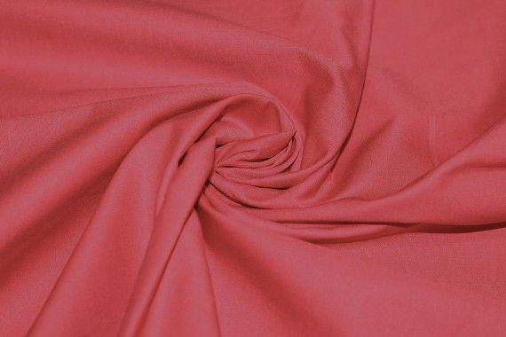 Popeline Unie 100% Coton Corail