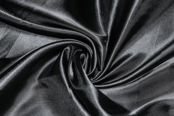Satin Polyester Noir