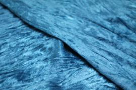 Panne de Velours Froissée Turquoise