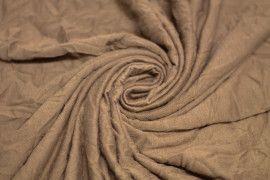 Tissu Jersey Froissé Marron Coupon de 3 mètres