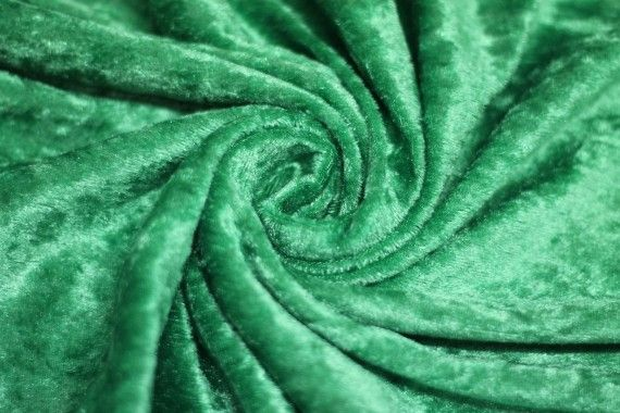 Panne de Velours Verte