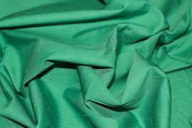 Popeline Unie 100% Coton Vert Drapeau