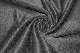 Tissu Mini Ottoman (rayure fine) Noir Coupon de 3 mètres