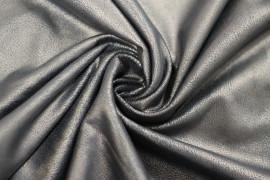 Tissu Suédine Metal Cuir Vintage Choco -Au Mètre