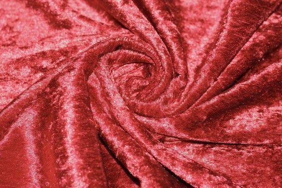 Tissu Panne de Velours Rouge -Au Mètre