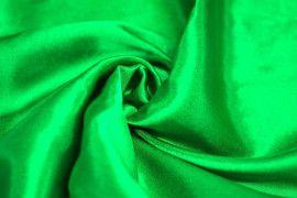 Tissu Doublure Satin Vert Drapeau Grande Largeur Coupon de 3 mètres