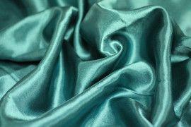 Tissu Doublure Satin Vert Turquoise Grande Largeur Coupon de 3 mètres