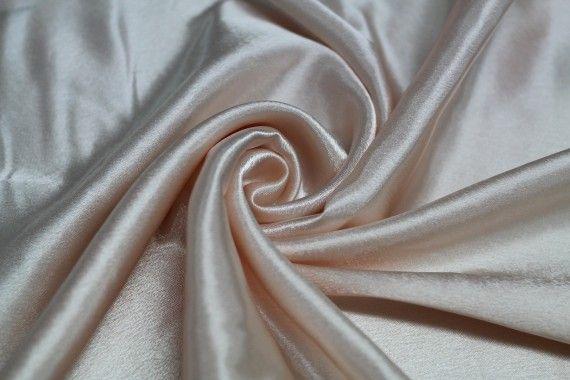 Tissu Doublure Satin Saumon Clair Grande Largeur Coupon de 3 mètres