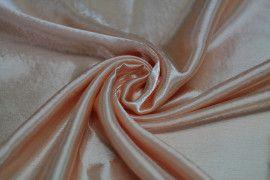 Tissu Doublure Satin Saumon Moyen Grande Largeur Coupon de 3 mètres