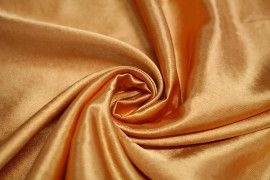 Tissu Doublure Satin Orange  Grande Largeur Coupon de 3 mètres