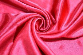 Tissu Doublure Satin Rouge Grande Largeur Coupon de 3 mètres