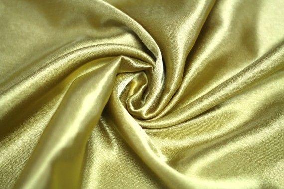 Tissu Doublure Satin OR Grande Largeur Coupon de 3 mètres
