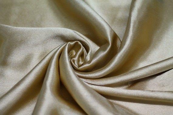 Tissu Doublure Satin Or Clair Grande Largeur Coupon de 3 mètres