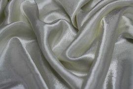 Tissu Doublure Satin Ivoire Grande Largeur Coupon de 3 mètres