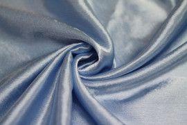 Tissu Doublure Satin Ciel Grande Largeur Coupon de 3 mètres