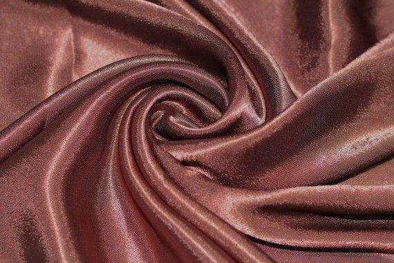 Tissu Doublure Satin Choco Grande Largeur Coupon de 3 mètres