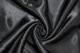 Tissu Doublure Satin Noir Petite Largeur Coupon de 3 mètres