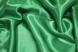 Tissu Doublure Satin Vert Drapeau Petite Largeur Coupon de 3 mètres