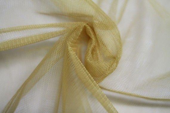 Tissu Tulle Raide Or Coupon de 3 mètres