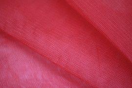 Tissu Tulle Raide Rouge Coupon de 3 mètres