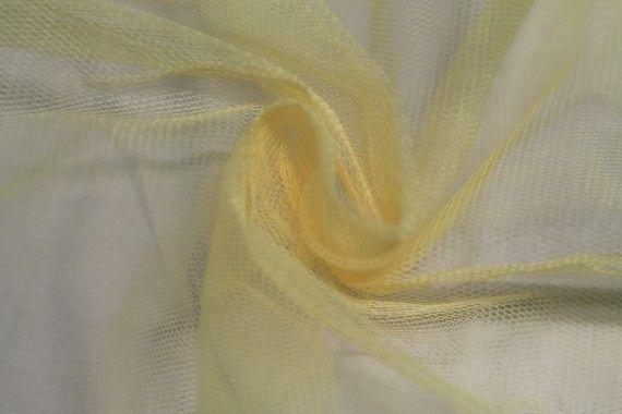 Tissu Tulle Raide Jaune Paille Coupon de 3 mètres