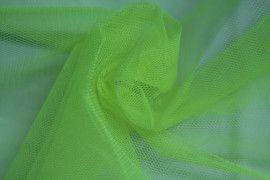 Tissu Tulle Raide Jaune Fluo Coupon de 3 mètres